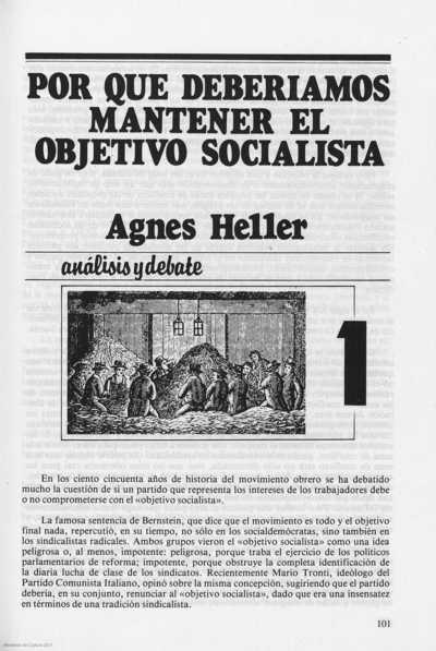 Por que deberíamos mantener el objetivo socialista