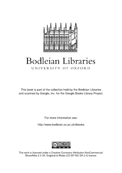 The itinerary of John Leland the antiquary publish'd from the original MS. in the Bodleian library