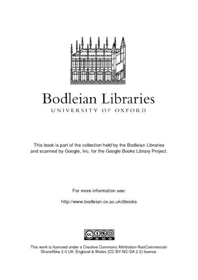 Salomonis episcopi Bassorensis liber Apis, Lat. vertit notisque illustr. J.M. Schoenfelder