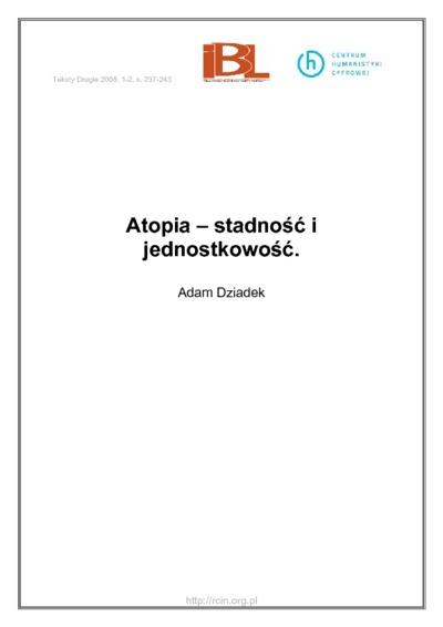 Atopia - stadność i jednostkowość