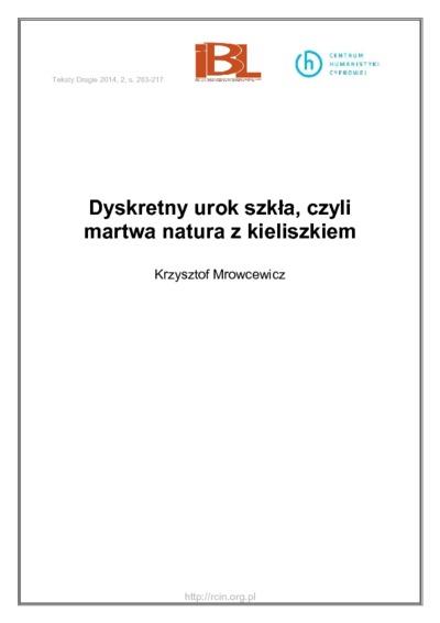 Image from object titled Dyskretny urok szkła, czyli martwa natura z kieliszkiem
