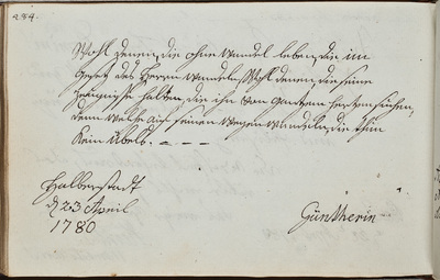 Albuminscriptie / van [Frau] Günther, voor J.A. Weinschenck, student theologie