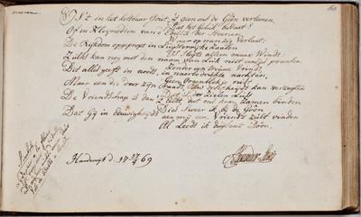 Albuminscriptie / van Alexander Lewis voor Jacobus Dietz