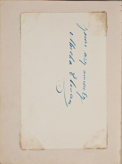 Inscriptie / van Mischa Elman, voor Louise Westermann-Heinze (1837-1929)