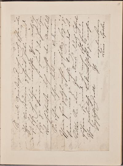 Brief van Louis Spohr (1784-1859), componist, geschreven aan N.N