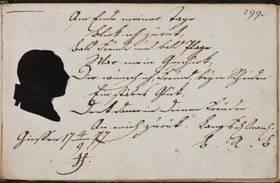 Albuminscriptie / van ... Lang, student rechten, voor Friedrich Carl Kremer (1757-1812)