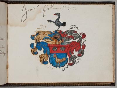 Albuminscriptie / van Jacobus Gallus (1552-1618), jurist, hoogleraar te Napels, Messina en Padua, voor Johannes l'Empereur de Oppijck (ca. 1594-1637), predikant