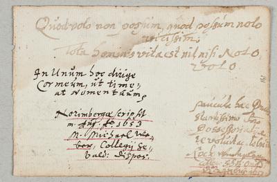 Albuminscriptie / van Michael Weber, voor Johannes Christianus Hornung