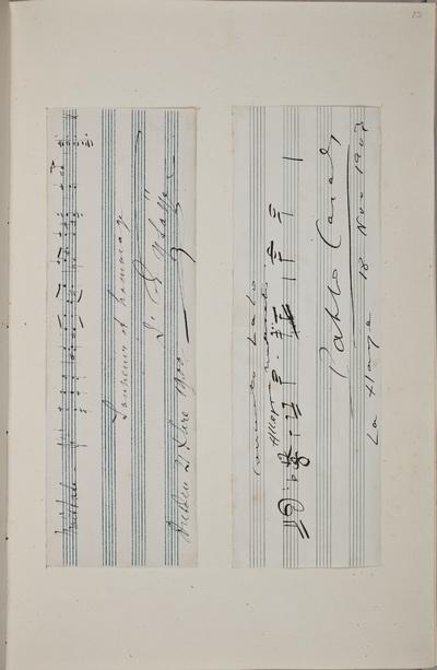 Muzikale bijdrage / van Pablo Casals (1876-1973), cellist, voor het autografenalbum van Rudolf Hugo Driessen (1873-1946) en Caroline Driessen-Kleyn (1883-1938)