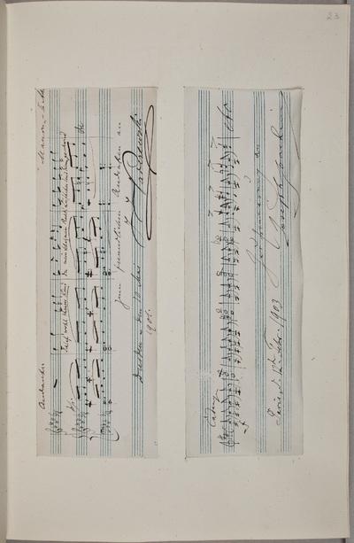 Muzikale bijdrage / van Joseph Joachim (1831-1907), violist, voor het autografenalbum van Rudolf Hugo Driessen (1873-1946) en Caroline Driessen-Kleyn (1883-1938)