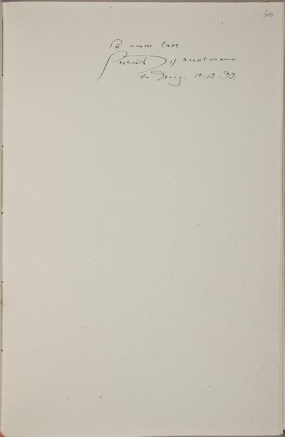 Albuminscriptie / van Gerhart Hauptmann (1862-1948), letterkundige, voor van Rudolf Hugo Driessen (1873-1946) en Caroline Driessen-Kleyn (1883-1938)