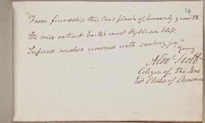 Albuminscriptie / van Alexander Scott, voor Bernardus Joannes Schuuring, medicus
