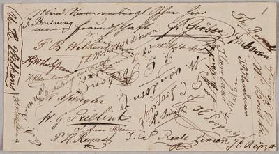 Handtekeningen / voor Pieter Hendrik Six (1827-1905)