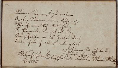 Albuminscriptie / van Maria Müller, voor [mevr. Rode]
