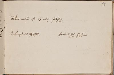 Albuminscriptie / van Johann Fischer, voor Samuel Schön