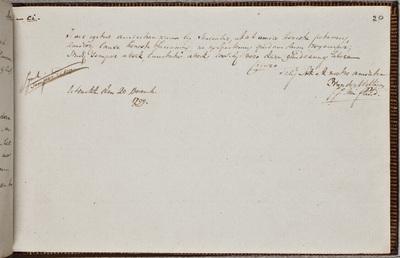 Albuminscriptie / van Pieter van der Willigen (1778-1847), predikant, voor Jacob Verburg (1778-1861), predikant