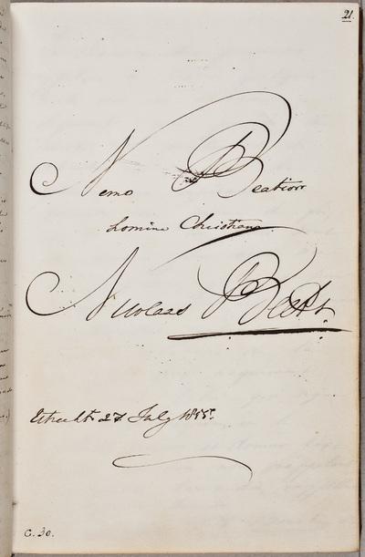 Albuminscriptie / van Nicolaas Beets (1814-1903), theoloog en letterkundige, voor Otto Willem Hora Siccama (1805-1879), president van de Algemene Rekenkamer