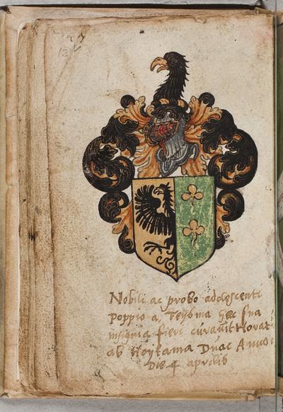 Albuminscriptie / van Horatius ab Hoytama voor Poppe van Feytsma (-1583)
