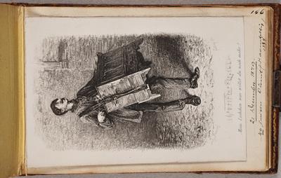 "Musicerende man met onderschrift ""Mein Liebchen was willst du noch mehr!"" / door [Ernst] Forberg (1844-1915) naar [Ludwig] Knaus (1829-1910)"