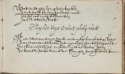 """""""Claaglied"""" door G.A. Bredero / in het liedboek van J.J. van Aste"""