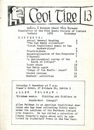 Ceol Tíre 13, November 1978