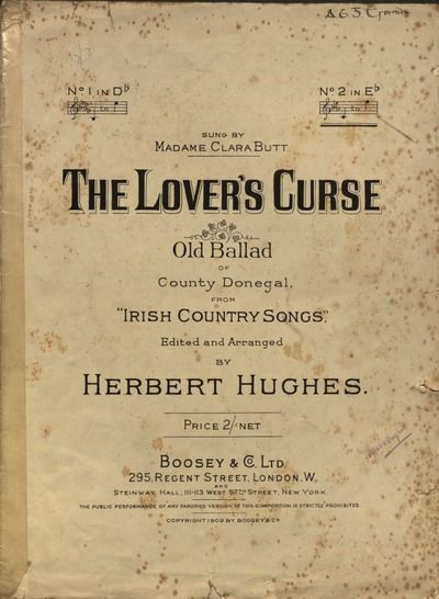 The lover's curse : old ballad of County Donegal