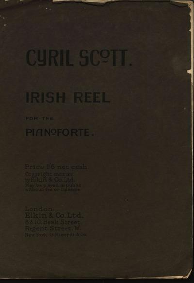 Irish reel for the pianoforte