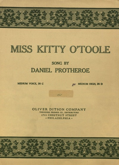 Miss Kitty O'Toole : song