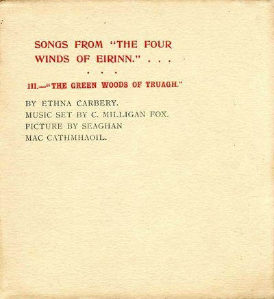 Songs from The four winds of Eirinn. III