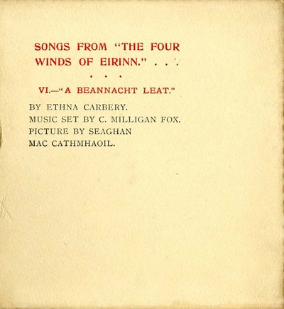 Songs from The four winds of Eirinn. VI