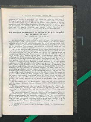 Das Arboretum der Lehrkanzel für Botanik bei der k. k. Hochschule für Bodenkultur in Wien / Von Dr. Karl Wilhelm
