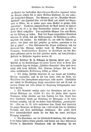 Herr Rabbiner D. J. Elbogen in Florenz schrieb uns (Im deutschen Reich)