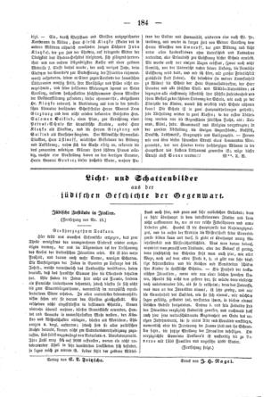 Jüdische Zustände in Italien : Großherzogthum Toskana (Der Orient <Leipzig>)