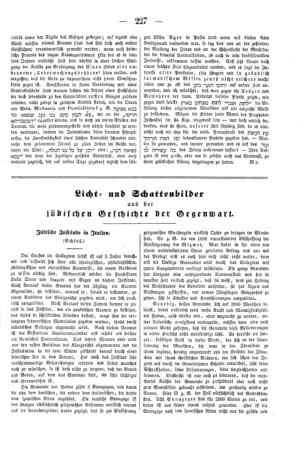 Jüdische Zustände in Italien : Schluß (Der Orient <Leipzig>)