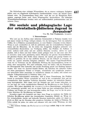 Die soziale und pädagogische Lage der orientalisch-jüdischen Jugend in Jerusalem (Palästina)