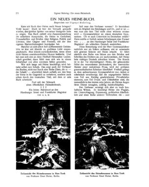 Teilansicht des Heinebrunnens in New York (Ost und West)