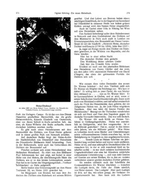 Lorelei : Teilansicht des Heinebrunnens in New York (Ost und West)