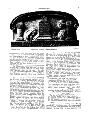 """Kopfleiste der Zeitschrift """"Jewish Comment"""" (Ost und West)"""