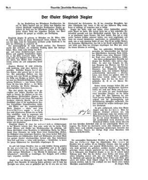 Der Maler Siegfried Ziegler (Bayerische israelitische Gemeindezeitung)