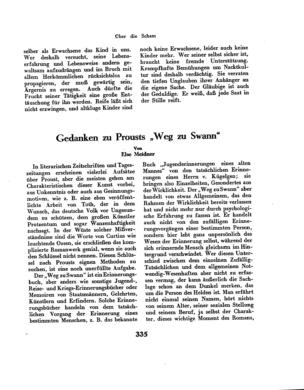 """Gedanken zu Prousts """"Weg zu Swann"""" (Der Morgen)"""