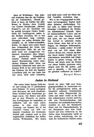 Juden in Holland (Der Morgen)