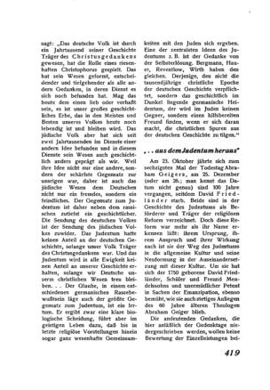 """""""... aus dem Judentum heraus"""" (Der Morgen)"""