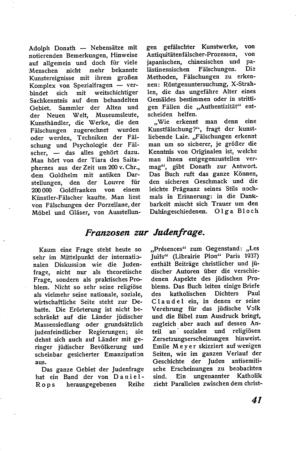 Franzosen zur Judenfrage (Der Morgen)