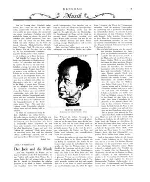 Gustav Mahler : Radierung (Menorah)
