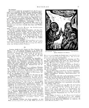 Jona Predigt in Ninive : Farb-Holzschnitt (Menorah)