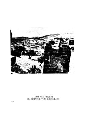 Stadtmauer von Jerusalem : (Gemälde) (Menorah)
