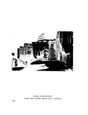 Grab des Rabbi Meir Baal Haness : (Gemälde) (Menorah)