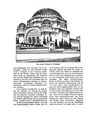 Der große Tempel in Cleveland : (Zeichnung) (Menorah)