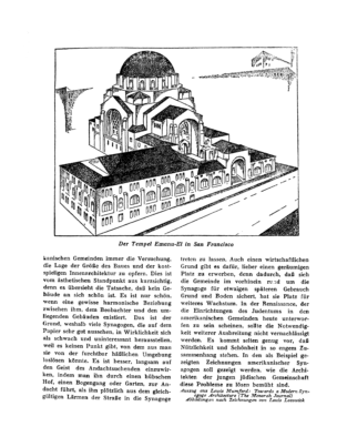 Der Tempel Emanu-El in San Francisco : (Zeichnung) (Menorah)