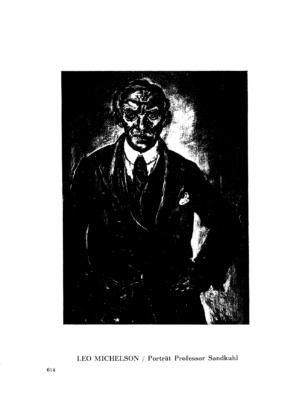 Porträt Professor Sandkuhl : (Gemälde) (Menorah)